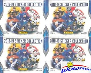 4-2018-19-Panini-Hockey-Factory-Sealed-50-Pack-Sticker-Boxes-1-000-Stickers
