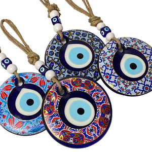 Glass Floral Evil Eye Large Wall Hanging Handmade  Home Decor Large Ornaments