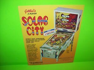 Gottlieb SOLAR CITY Original 1977 Flipper Arcade Game