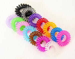 Chouchou-Ressort-x1-Bracelet-Elastique-Fil-Telephone-Accessoire-Cheveux-Mini