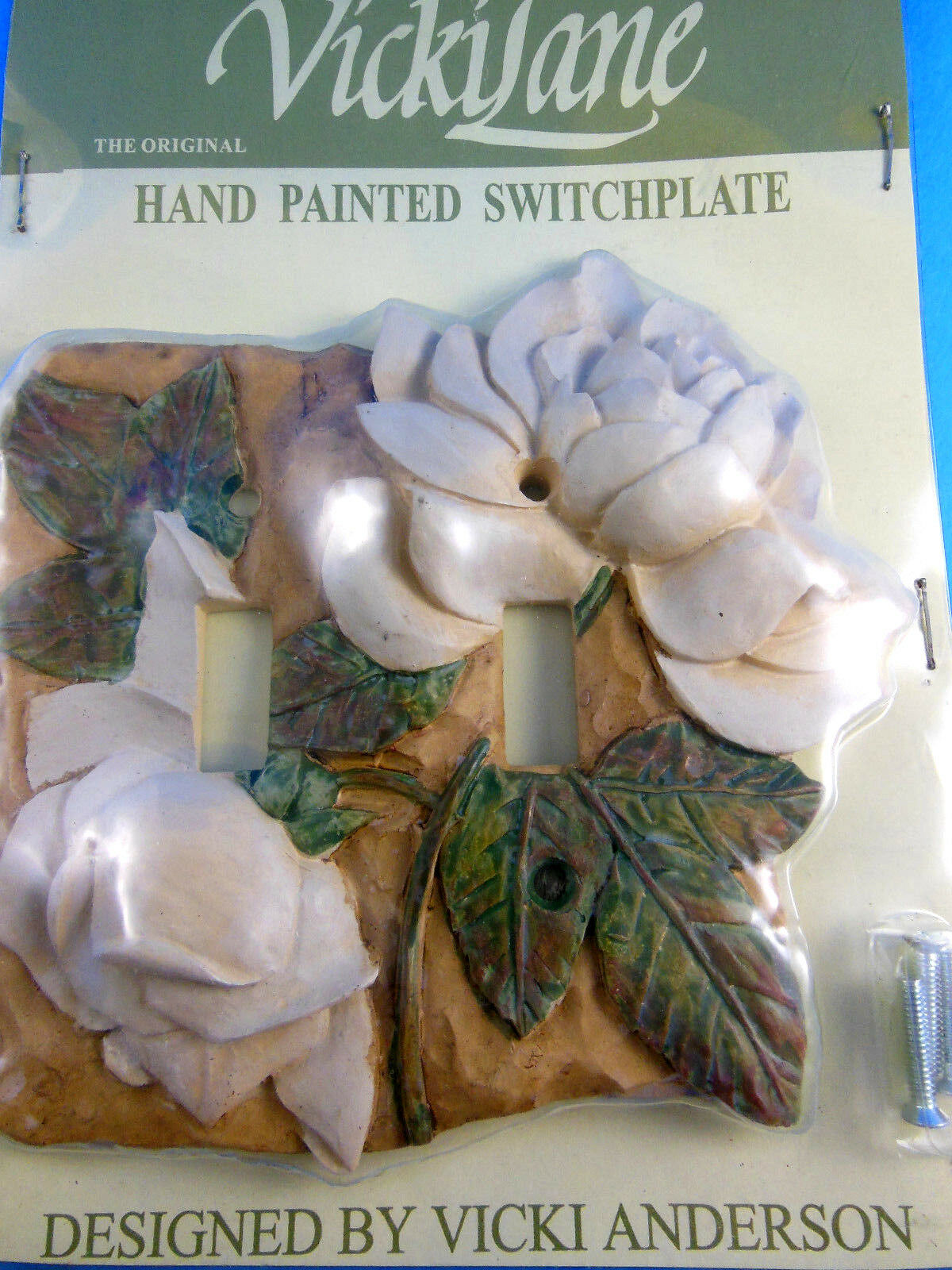 Light Switchplate Cover Single Dogwood Flowers By Vicki Lane Andersson Resin For Sale Online Ebay