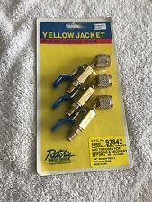Yellow Jacket Refrigeration Service Ball Valves Set of 3 45 degree Angle