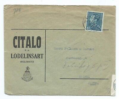 Belgium Censored Cover To Sweden 1941 Ebay