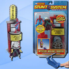 Spider Man Stunt System Mystery Web Net Theater Playset & Figures - Toybiz