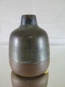 Botella-en-Ceramica-Bornholm-Dinamarca-Denmark-Vintage-1968-Modernismo-R29