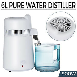 6L WATER DISTILLER PURIFIER STAINLESS STEEL DISTILLED PURIFIED HOME MEDICAL