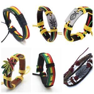 Jamaican-reggae-Jesus-bracelet-leather-handmade-multilayer-bracelet