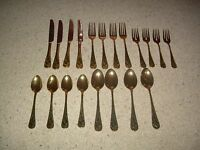 Hollyberry 20 Pc Gold Plated Holly Holiday Stainless Flatware Free Ship 1