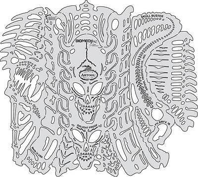 Artool Mike Lavallee Biomech FX Skull Buster & Bonus Tech Support Stencil Sets