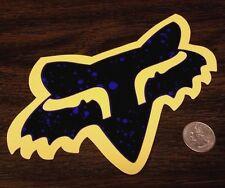 "FOX RACING 7"" YELLOW and BLACK SPLATTER HEAD Sticker Car Window Decal Purple"