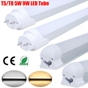 1-10-Pack-LED-Tube-Light-T5-T8-5W-9W-18W-24W-1-4FT-Fluorescent-Lamp-Bulb-White