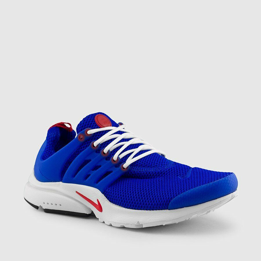 New Nike Men's Air Presto Essential shoes (848187-408)  Bright bluee  White-Red