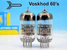 2x MATCHED PREMIUM 6N2P-V 6Н2П-В VOSKHOD 60's BLACK PAIR TUBE ~ 12AX7 ECC83