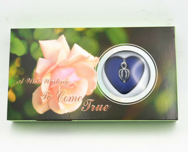 """Great Xmas Gift Love Wish Pearl Kit Heart Cage 17"""" chain Necklac Peony"""