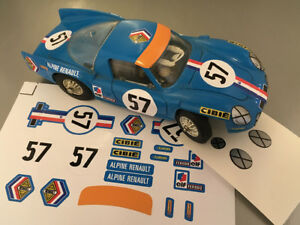 NO DECAL IDEAL SLOT STICKERS POUR ALPINE RENAULT 3000 JOUEF 1//40 REF A210 #55