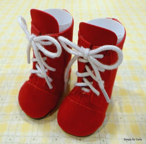 """WHITE w//Fur SNOWBOOTS DOLL BOOTS SHOES fits American Girl 14.5/"""" WELLIE WISHERS"""