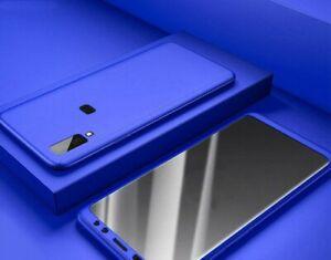Coque Housse Intégrale 360° Pour Samsung Galaxy A50 Étui De Protection Fine Bleu