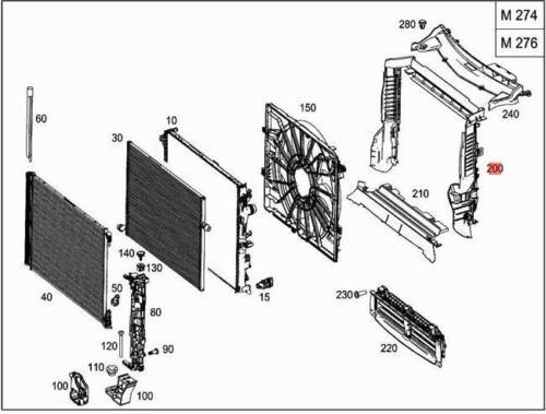 Genuine Air Duct Segment MERCEDES C238 C253 S213 W213 X253 2135050030