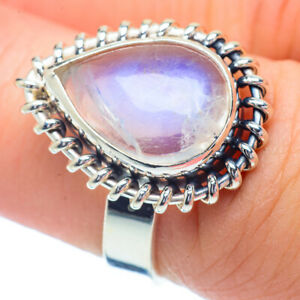 Rainbow Moonstone 925 Sterling Silver Ring Size 6.75 Ana Co Jewelry R35090F