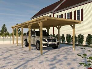 Carport Flachdachcarport Silverstone Xviii 300 X 800 Cm Bausatz