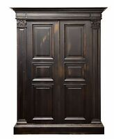 2977 : Italian Style Old World 2 Door Armoire Wardrobe Media Cabinet