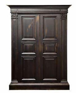 2977 : Italian Style Old World 2 Door Armoire Wardrobe Media Cabinet