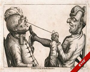 OLD SCHOOL OF DENTISTRY DENTIST PULLING A TOOTH PAINTING ART REAL CANVAS PRINT