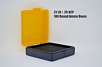 1pcs 22LR .25 ACP Ammo Boxes 100 Round of storage AMMO NOT INCLUDED