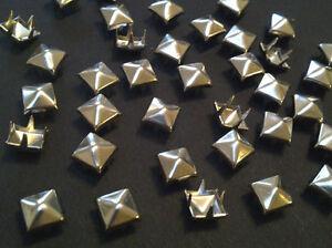 StudsAndSpikes Denim and LeatherCraft Bag of 100 Medium 38 Brass Pyramid Studs for Punk Vintage