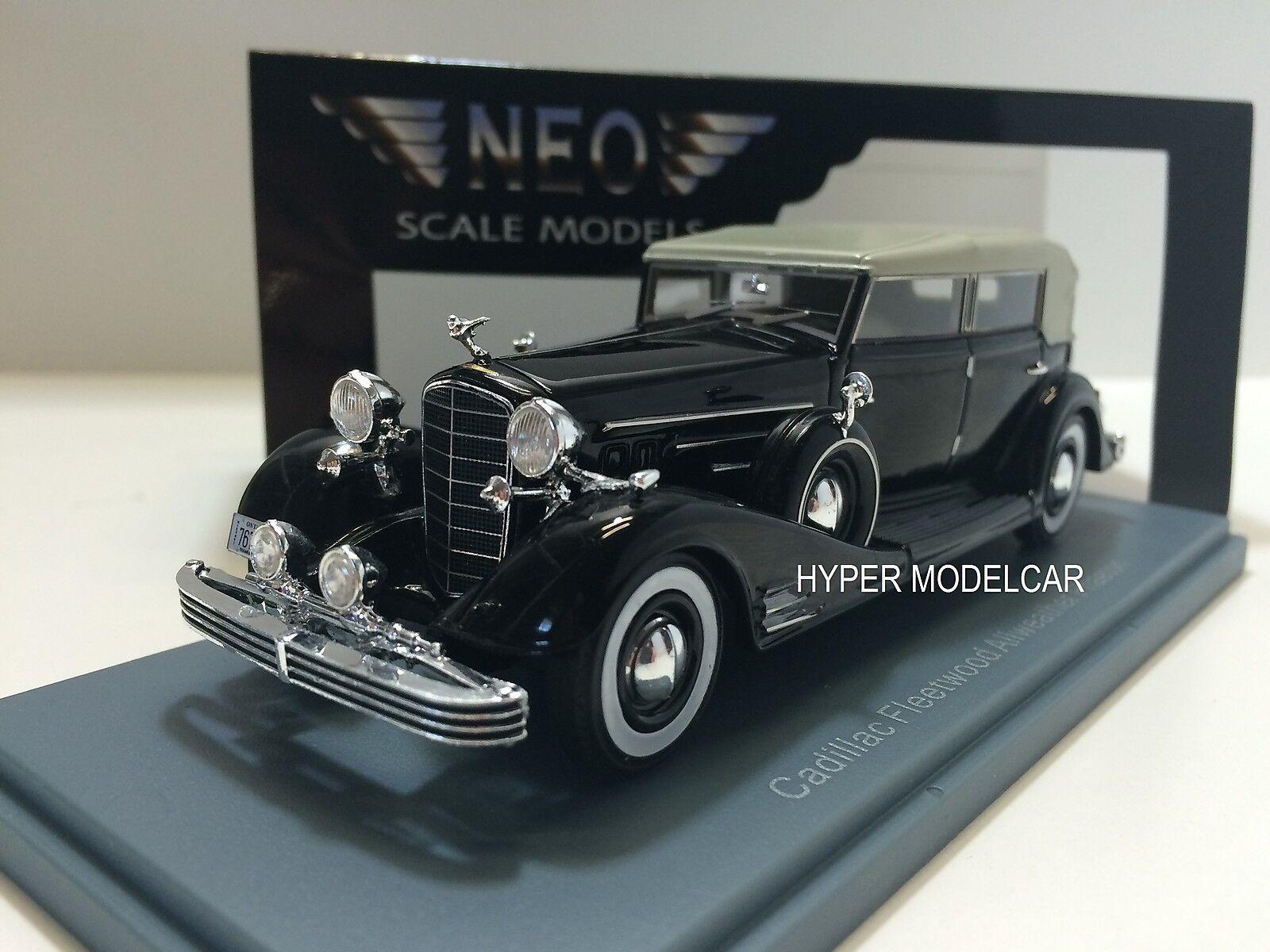 NEO SCALE MODEL 1 43 Cadillac Fleetwood Allweather Phaethon 1933 bleu NEO45766