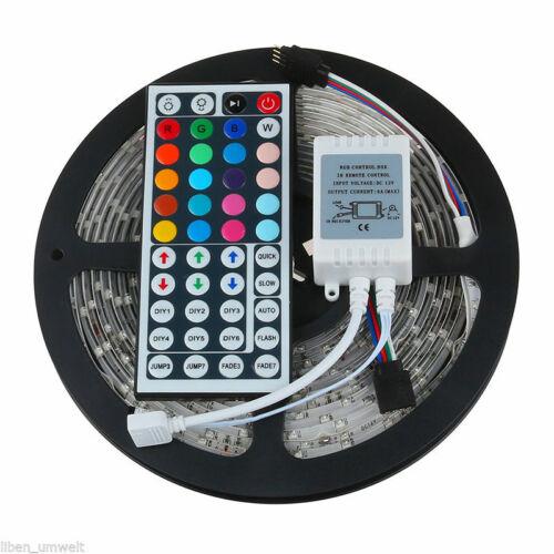 5M 5050 SMD LED Stripe RGB Leiste Streifen Band Leuchte Lichterkette Controller