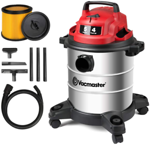 Vacmaster Red Edition VOC508S 1101 Stainless Steel Wet Dry Shop Vacuum 5 Gallon