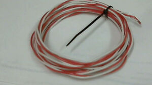 10ft pair Western Electric 18g wire RED & WHITE,untinned