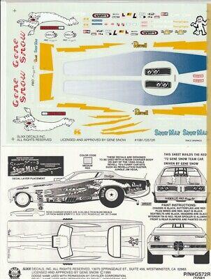 1//25th Scale Decals Candies /& Hughes Barracuda Drag NHRA 1//24th