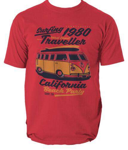 T Shirt Surf Mens S Beach Surfing Tshirt 3xl Rider California South  S-3XL