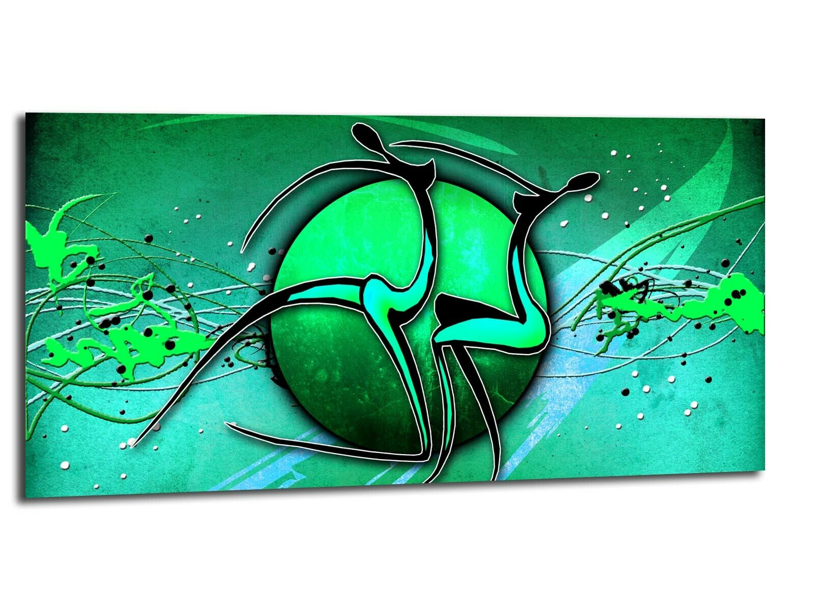 Alu-Dibond Bild ALU100501266 WELT UND MENSCH MIT 100 x 50 cm Wandbild ABSTRAKT