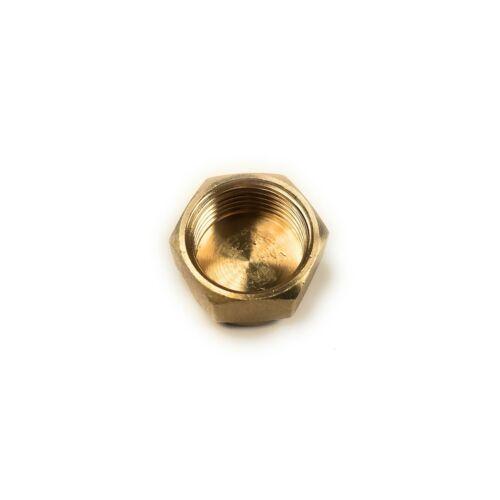 "Stop End Cap 1//2/"" BSP Blanking Cap Brass Fits 19mm Thread"