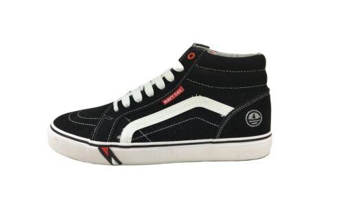 Scarpe Uomo Moda//Casual Navy Sail Sneaker Alta in Tessuto e camoscio 0000