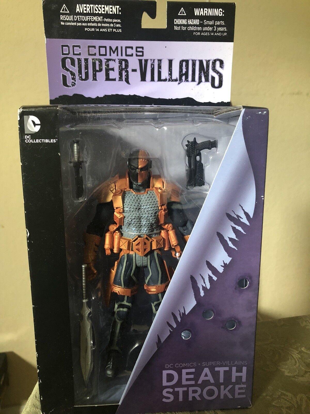 Deathstroke Super-Villains Action Figure DC Comics DC Collectibles NEW SEALED