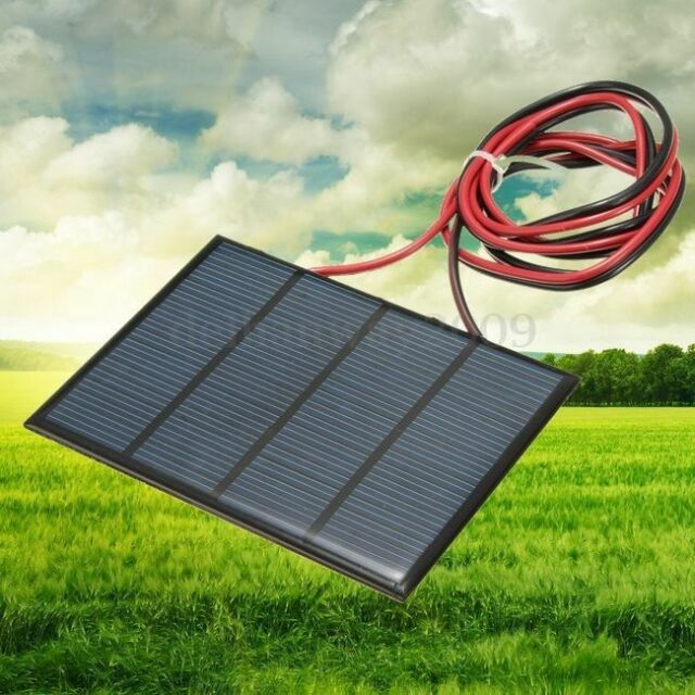 Mini 12V 1.5W Solar Panel Small Cell Module DIY Charger With 1M Welding Wire