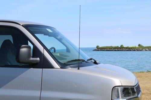 "2000-2019 Toyota Tundra 31/"" Black Stainless AM FM Antenna Mast FITS"