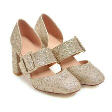 d07b35a948ed item 5 Women s Sequin High Heels Buckle Round Toe Mary Janes Pumps Casual Sandals  Shoes -Women s Sequin High Heels Buckle Round Toe Mary Janes Pumps Casual  ...