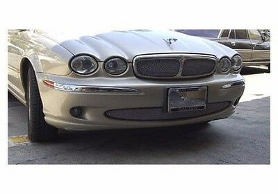Lower Bumper Mesh Grille Grill for Jaguar S-Type 1999 2000 2001 2002 2003 2004 Bright Stainless