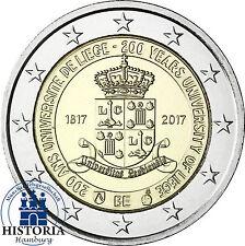 Belgien 2 Euro 2017 stgl.  200 Jahre Universität Lüttich Münze in Münzkapsel