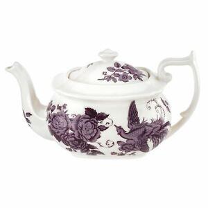 Spode-Kingsley-White-Collection-Teapot-1-1L-Portmeirion