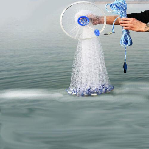 Wurfnetz Fischernetz Fisch Netz Cast Net Köderfischnetz Angelnetz 2.4M NICE