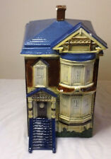 VINTAGE Multi-Color VICTORIAN HOUSE COOKIE JAR (San Francisco Style)