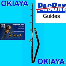 OKIAYA BENT BUTT 50-80LB VENOM PRO Rod PAC BAY GUIES FOR PENN TIAGRA SHIMANO