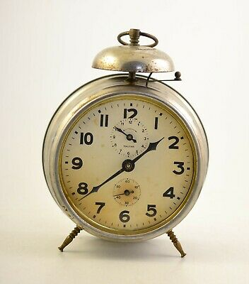 Antique MAUTHE 1920s Alarm clock Germany Vintage old desk ...
