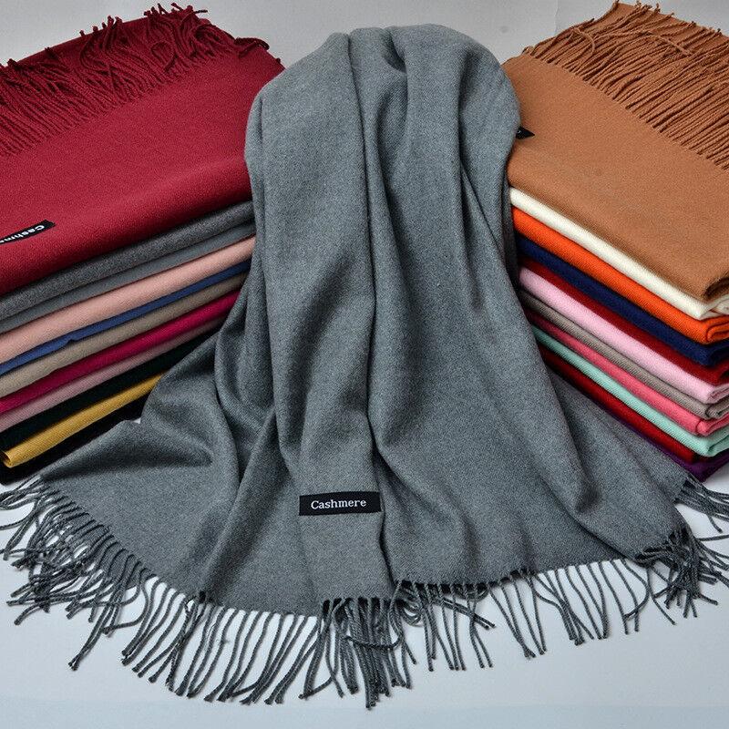 Damen Herren Lang Wrap Kaschmirschal Schal Cape Winter Warm Schal Decke Groß